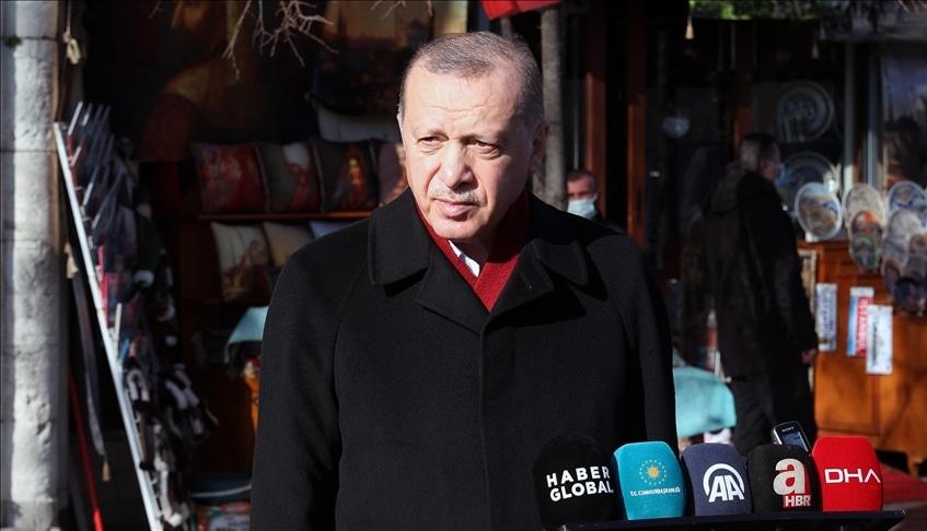 تصريحات للرئيس رجب طيب أردوغان