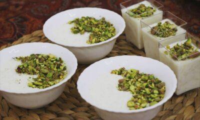 طريقة عمل الرز بلبن بالكريم شانتيه